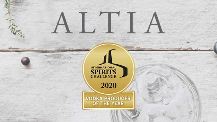 "Altiat tunnustati ""Vodka Producer of the Year"" tiitliga!"